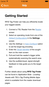 Tag Finder - iOS - Help