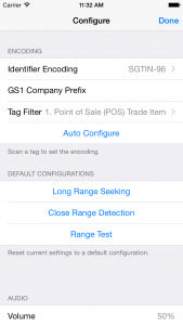 Tag Finder - iOS - Settings